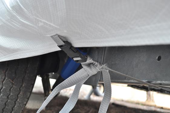 bache protection camping car