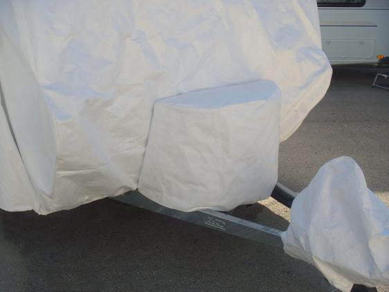 bache protection caravane