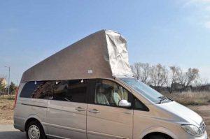 bache fourgon toit relevable