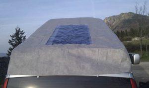 panneau solaire toit relevable fourgon